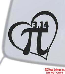 Choose Size /& Color Pi Symbol Vinyl Sticker Decal Math Pie 3.14