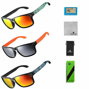 RockBros Cycling Polarized Glasses Goggles Full Frame Sunglasses Eyewear