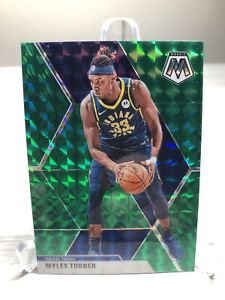 2019-20 Panini Mosaic Myles Turner Green Prizm NBA Basketball Indiana Pacers