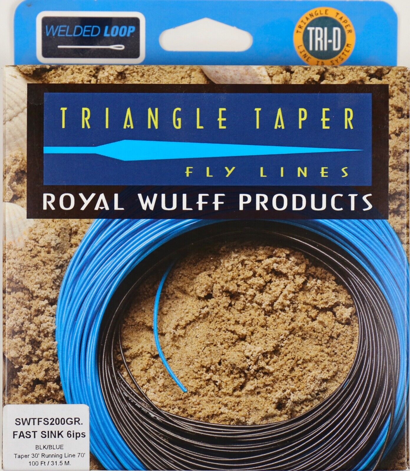 Royal Wulff Triangle Taper Fast Sink Saltwater 200 Grain Fly Line Free Fast Ship