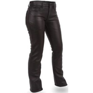WOMENS LEATHER MOTORCYCLE JEANS PANTS GREAT COMFORT FIT 5 POCKET DESIGN....8