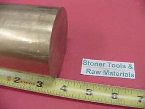 "4/"" C360 BRASS ROUND ROD 6/"" long Solid 4.00/"" OD H02 Lathe Bar Stock Half Hard"