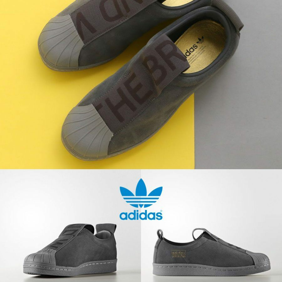 56e176d883935 Adidas Original Superstar BW3S Slip On Sneakers Grey CG3695 SZ 4-11 Hiphop