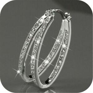 Fashion-Women-9K-Gold-Filled-Silver-CZ-Crystal-Big-Hoop-Earrings-Jewelry
