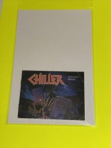 SUPER-RARE-CHILLER-Instruction-Booklet-Manual-Original-NES-NINTENDO-GAME
