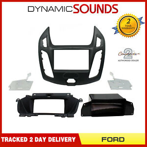 CT23FD48 Double Din Fascia Adaptor Black For Ford Transit Connect (2013 Onwards)