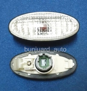 CLEAR-Side-Repeaters-Indicator-FOR-Nissan-Micra-K11-Almera-N16-100NX-200SX-S14