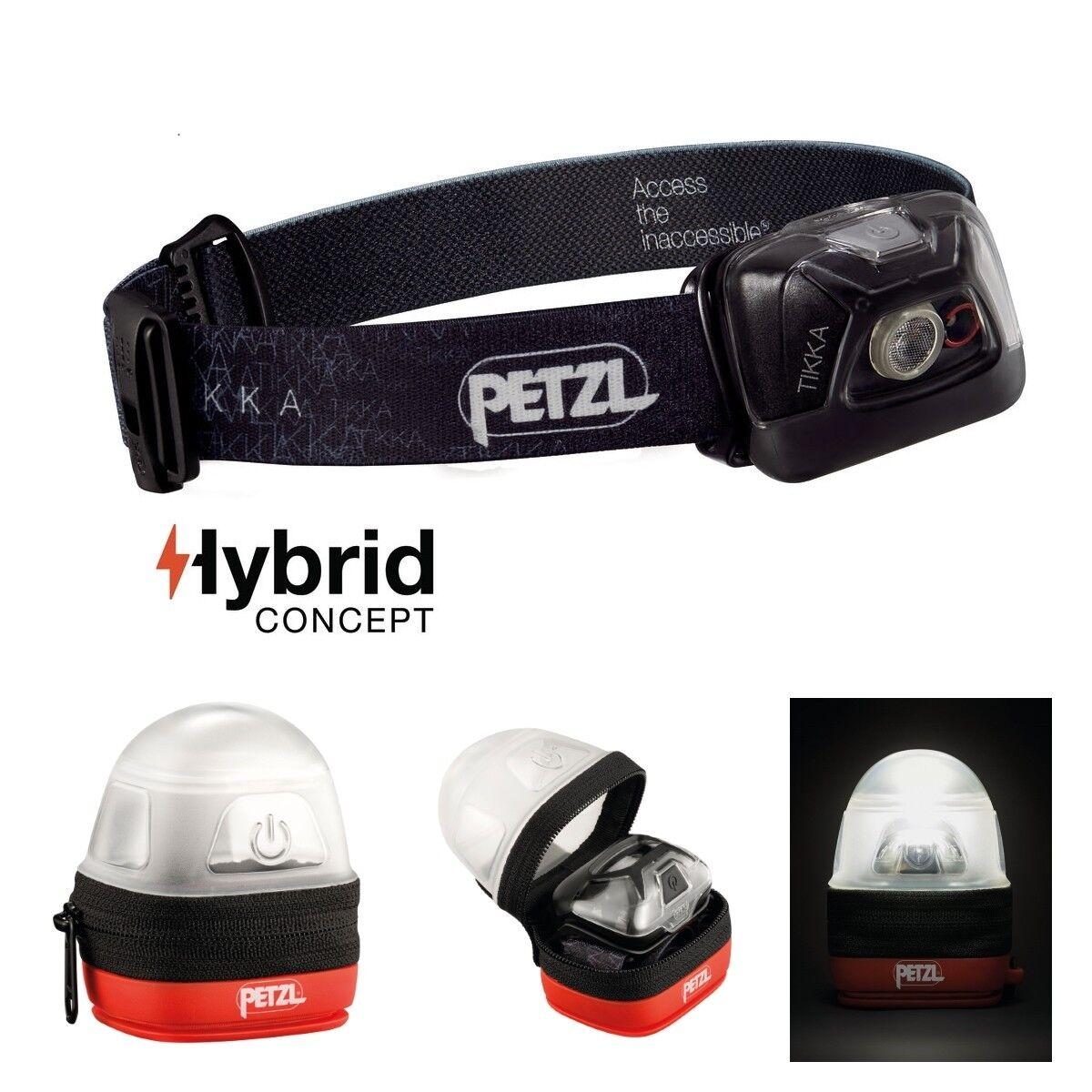 Petzl Linterna Tikka negro-max. 200 Lumen incl. Petzl noctilight schutz-etui