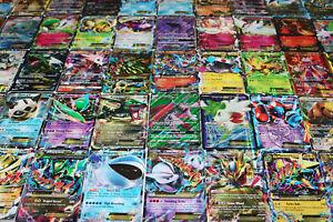 Pokemon-Tarjeta-Lote-de-100-tarjetas-de-juego-oficial-Trading-Card-Con-Raro-com-UNC-GX-EX-HYPER-o