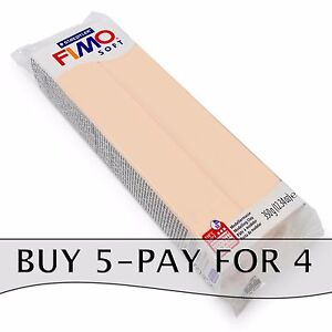 FIMO-Soft-350g-Flesh-Polymer-Modelling-Clay-Oven-Bake-Clay-Buy-5-Pay-For-4