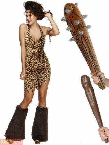 Club Adults Flintstones Fancy Dress Womens Outfit Ladies Cavewoman Costume