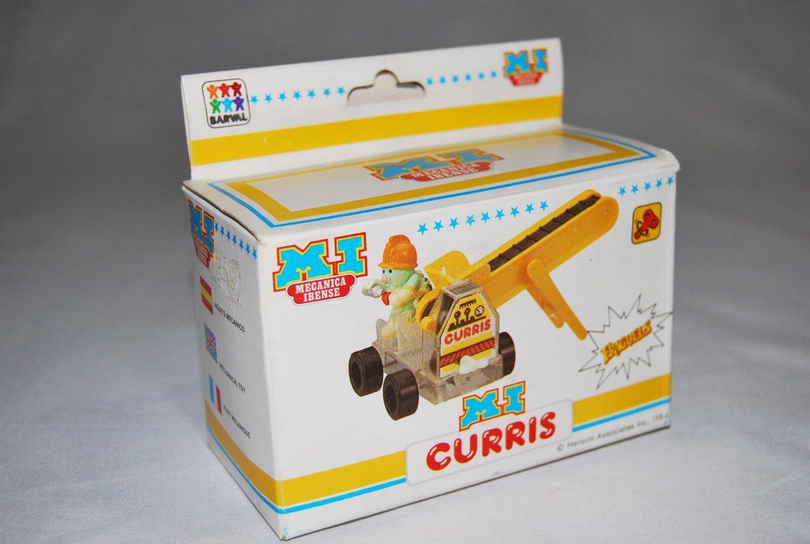 Fraggle Doozers Doozer Curris mecánico cuerda juguete 1984 Super Raro R10