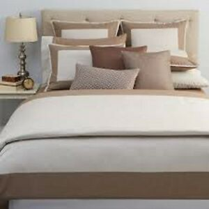 NWT Oake Constructed Border Linen TWIN Duvet Cover MSRP $245 - GORGEOUS!