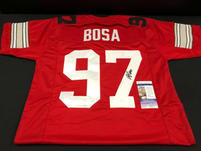 a00a5c290 JOEY BOSA OHIO STATE BUCKEYES SIGNED RED CUSTOM JERSEY JSA SD31072 ...