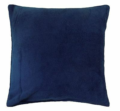 "LUXURY CASHMERE LOOK AND FEEL NAVY BLUE THICK SUPERSOFT CUSHION COVER 18"" - 45CM"