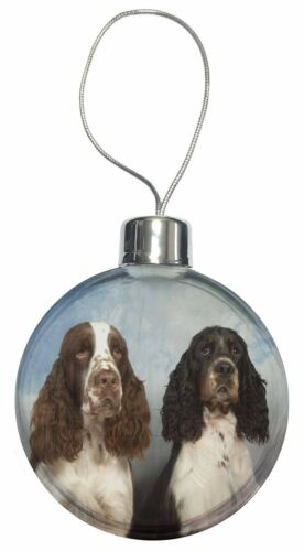 AD-SS2CB Springer Spaniel Dogs Christmas Tree Bauble Decoration Gift