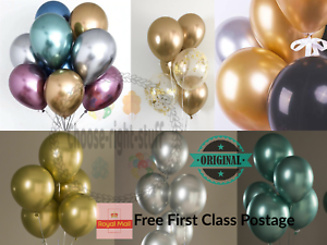 10-50PCS-12-034-Metallic-Pearl-Chrome-Latex-Balloons-UK-Base-Wedding-Birthday-crome