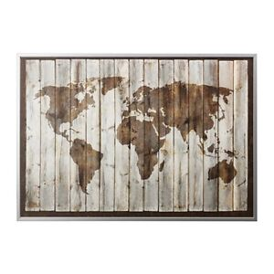 Ikea bjorksta driftwood world map canvas 78 34 x 55 with image is loading ikea bjorksta driftwood world map canvas 78 3 gumiabroncs Choice Image