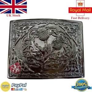 Scottish Modern Engraved Thistle Style Kilt/'s Belt/'s Buckles