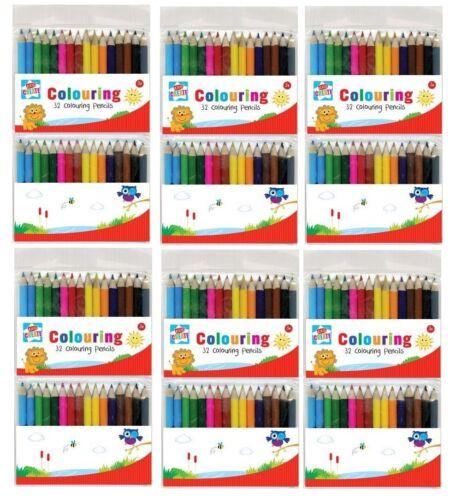 Vrac Prix Grossiste 32 Mini Crayons 6 Packs vdob//2