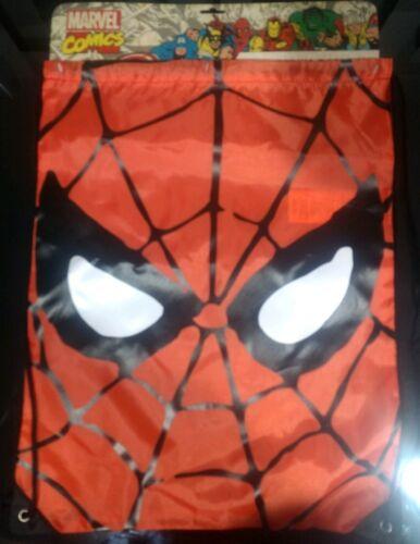 Marvel Comics Spider-Man Backpack Drawstring Bag Tote draw string SPIDERMAN