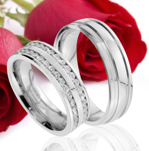 2 Partner Ringe Eheringe Trauringe Verlobungsringe Gravur Gratis TE42-A