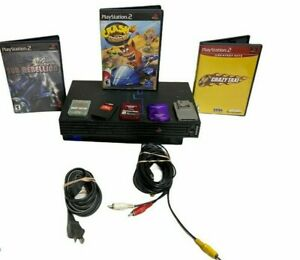Sony-PlayStation-2-PS2-Fat-Console-Bundle-w-memory-card-Games