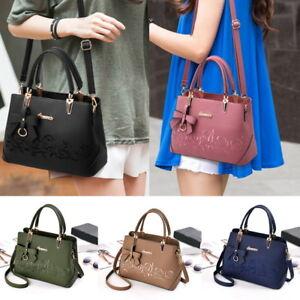 Women-Leather-Handbag-Shoulder-Bag-Large-Purse-Tote-Messenger-Satchel-Crossbody
