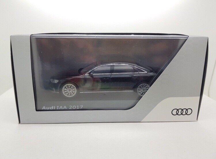Audi A8L D5 3.0 TDI TDI TDI TFSI QUATTRO mythe noir IAA 2017 1:43 I-Scale (concessionnaire modèle) | économie  0e0155