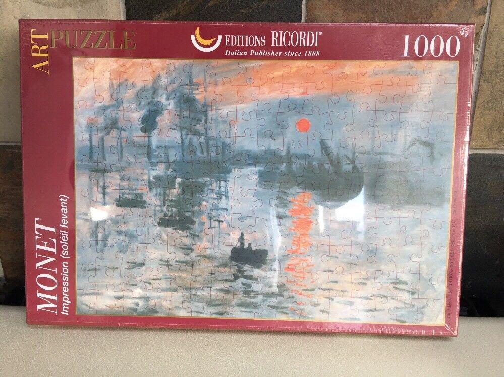 Ricordi Impression Soleil Levant 1000 Piece Claude Monet Jigsaw Puzzle