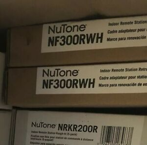 NuTone NF300RWH Indoor Remote Station Retrofit Frame White