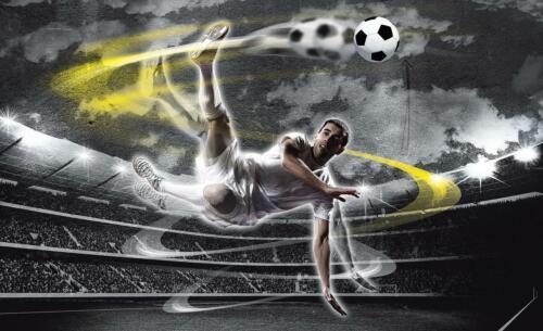 Vlies Fototapete Fußball 3D Kinderzimmer Jugendzimmer Fußballplatz Sport 721