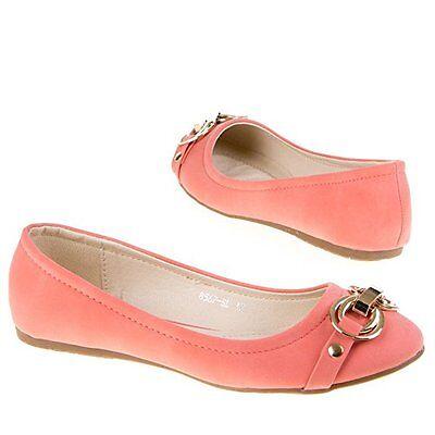 Damenschuhe Schuhe Ballerina Schnalle DEKO HALBSCHUHE rosa Lederop. [BJ 8567]