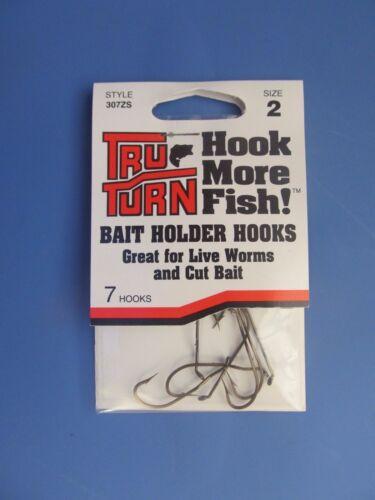 Lot of 6 packs of 7  NEW 42 Tru Turn Style 307ZS Hooks Size 2 Baitholder Hooks