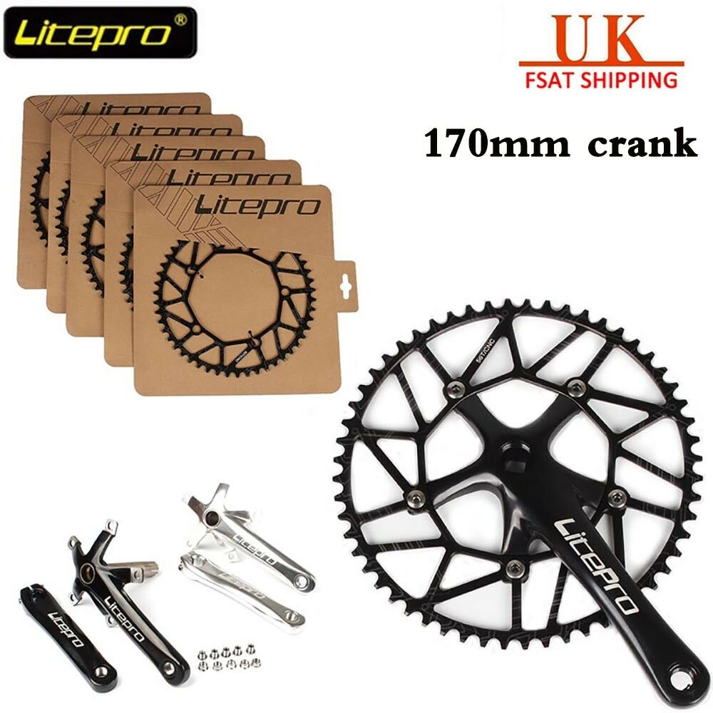 Litepro CNC Hollow 130mmBCD Bike Crankset 170mm Crank Set Chainring 50-58t UK