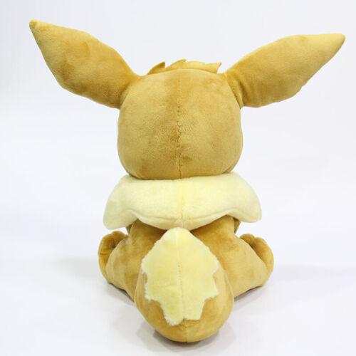 "NEW Animation Toy Sitting Eevee Plush Soft Doll Stuffed Plush Doll Gift 30cm 12/"""