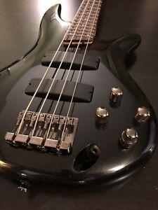 Ibanez SoundGear SR300 Electric Bass Guitar  - Metallic Black 4 String, Active.