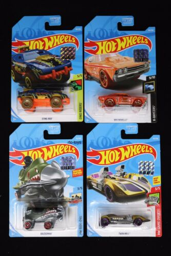 Hot Wheels 2019 Treasure Hunt Lot '69 Chevelle, Twin Mill, Bazoomka & Sting Rod