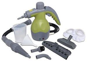 Green New Steamer Cleaner Portable Steam Handheld Multi-Purpose System Bathrooms