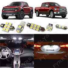11x White LED lights interior package kit 2010-2014 Ford F150 or Raptor FS2WCR