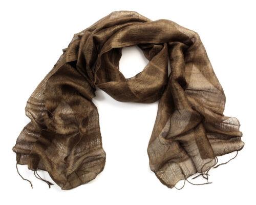 Dark Brown Silk Scarf