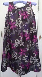 BNWT-New-Rrp-95-Laura-Ashley-Grey-Purple-Pink-Floral-Loose-Smock-Mini-Dress-10