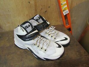 0df222505b05a Nike LEBRON ZOOM SOLDIER VIII 653648-100 White Black Basketball ...