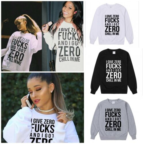 New ARIANA GRANDE Nicki Minaj I Give Zero Fucks Top Sweatshirt Pullover SWEATER