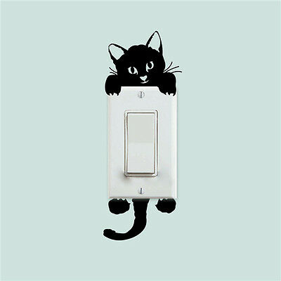 NEW Cat Switch Creative Removable Wall Sticker PVC Vinyl Decal Home Decor