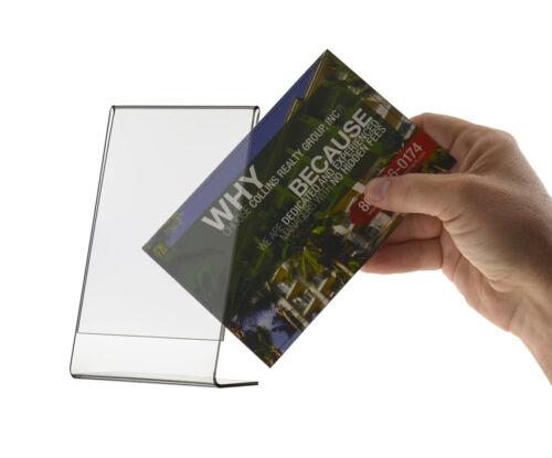 "4/""W x 6/""H Acrylic Slantback Picture Frames Lot of 12"