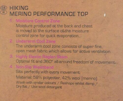 CRIVIT randonnée Merino Performance Top Femme L