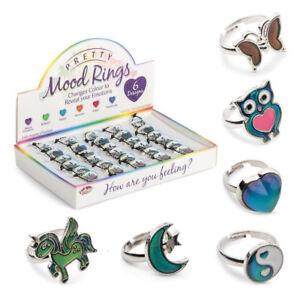 Stimmungsringe-Mood-Ringe-Farbe-Wechselnde-Ringe-Zauber-Kinder-Ringe-Mitgebsel