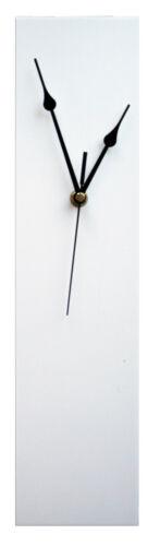 Contemporary slim long horloge murale 40cm orange, citron vert, blanc, rouge ou noir