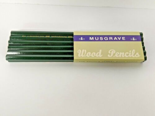 12 Musgrave Wood Drawing Pencils 1200 HB Unigraph